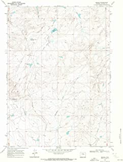 Wyoming Maps - 1968 Merino, WY USGS Historical Topographic Map - Cartography Wall Art - 44in x 55in
