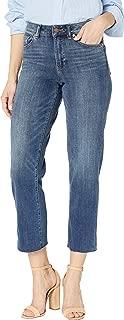 Women's Cropped Raw Edge Straight Leg Jean