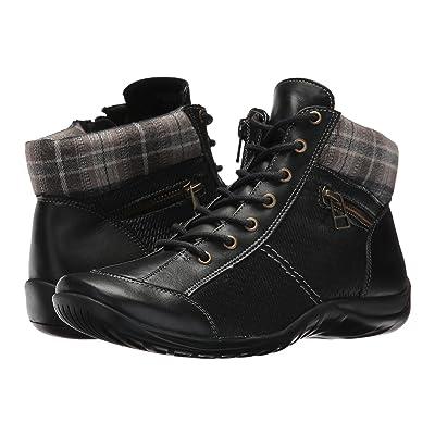 Walking Cradles Atticus (Black Leather/Black Fabric) Women
