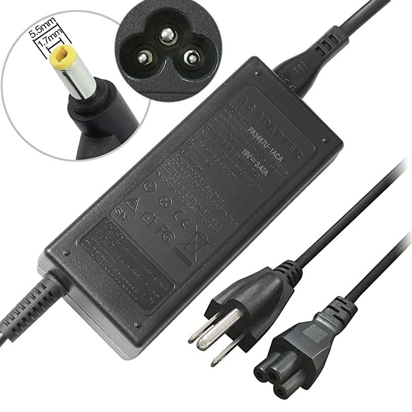 65W AC Adapter Replacement for Gateway MD7818U MD7820U NE56 NE56R12U NE56R13U NE56R15U NE56R27U NE56R31U NE56R34U NE56R37U NE56R41U NE56R42U NE71B06U NV53 NV55C NV55S NV57H NV59 NV59C +Power Cord