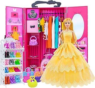 ZITA ELEMENT 11.5 Inch Girl Doll Closet Wardrobe Set 102...