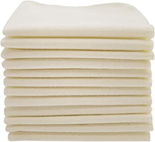 ImseVimse Organic Cotton Washable Reusable Baby Wipes 12 Pieces (Natural)