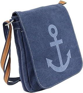 irisaa Damen Umhängetasche, Multifunkionale Schultertasche, Crossbody Handtasche mit Anker-Motiv, Magnetverschluss