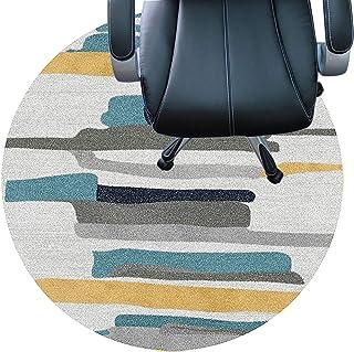 protector suelo ruedas silla, Tapete De Alfombra Redonda De 7 Mm De Grosor, Fondo Antideslizante, Superficie Resistente Al Desgaste, Tapete De Protección De Piso Sile(Color:UNA,Size:120cm(47.2in))