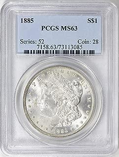 1885 Morgan Silver Dollar 1885 Morgan Silver Dollar PCGS MS-63 $1 MS-63 PCGS MS