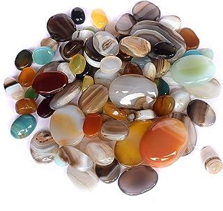 Real Gems Multi Color Natural 200 CT. Piedra de cabujón Oval de ónice, Piedra Preciosa Suelta de Piedra Natal de diciembre...