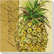 CounterArt Pineapples Absorbent Coasters, Set of 4
