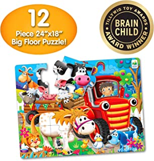 The Learning Journey My First Big Floor Puzzle – Farm Friends – 12Piece Toddler Puzzle (2 X 1.5') – Educational Gifts for Boys & Girls Ages 2 & Up