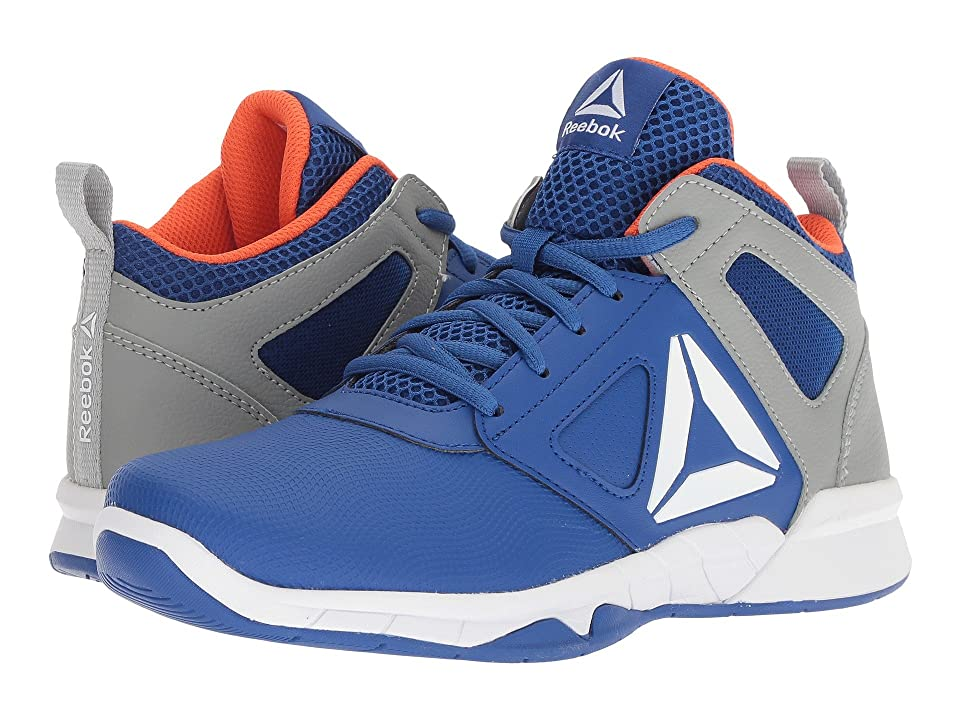 Reebok Kids Royal Dash N Drill Basketball (Little Kid/Big Kid) (Royal/Grey/Lava) Boys Shoes