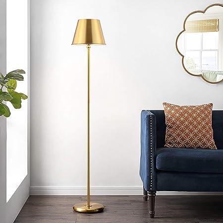 Elk Lighting D4066 Vance Floor Lamp In Aged Brass And White Amazon Com