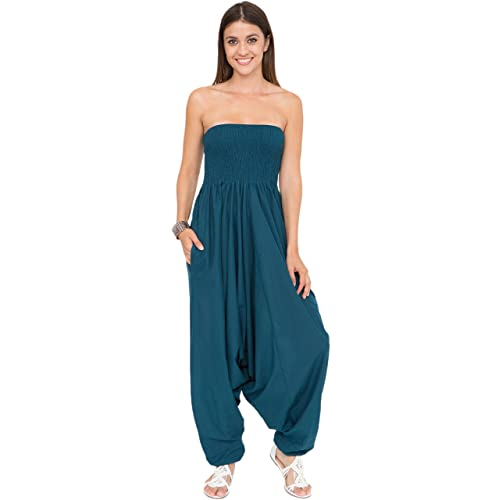 294616f7d0 likemary Harem Jumpsuit and Hareem Pants Convertible 2 in 1 Cotton Bandeau  Romper