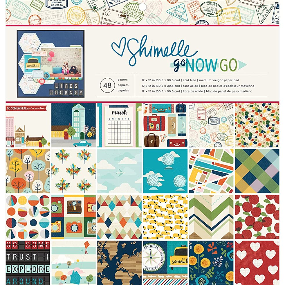 American Crafts Shimelle Go Now Go 12 x 12 48 Sheet Paper Pad