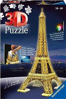 Ravensburger 125791 Puzzel Eiffeltoren Night 3D, 216 Stukjes, vanaf 10 jaar, Meerkleurig