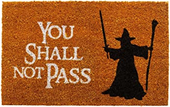 getDigital Doormat You Shall not Pass - Carpet Entrance Rug Front Door Welcome Mat - Made from high-Quality Natural Coco C...