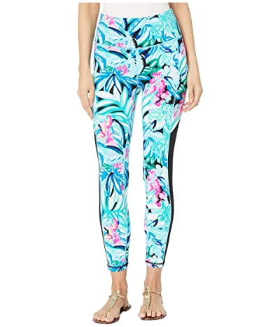 Lilly Pulitzer 24 High-Rise Leggings (Maldives Green Hype It Up) Women