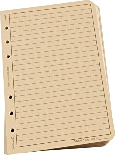 "Rite in the Rain All-Weather Loose Leaf Paper, 4 5/8"" x 7"", 32# Tan, Universal Pattern, 100 Sheet Pack (No. 982T)"