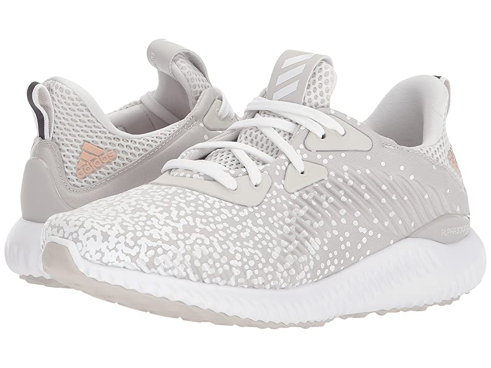 adidas Kids Alphabounce (Big Kid) (Grey/White/Grey) Kids Shoes