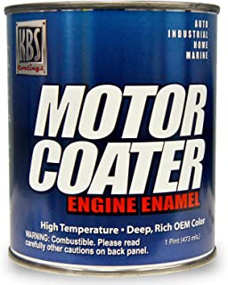 KBS Coatings 60332 69-72 AMC Engine Metallic Blue Motor Coater Engine Paint - 1 Pint