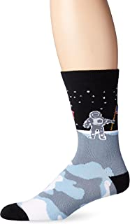 featured product K. Bell Men's Man On the Moon Crew Socks