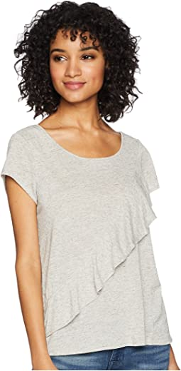 Fatima Linen-Like Ruffle Top