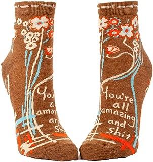 Blue Q Women's Novelty Ankle Socks - (Womens Size 5-10)