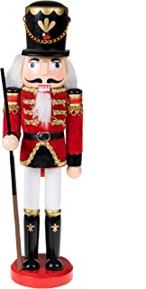 Clever Creations Traditional Wooden Soldier Nutcracker with Rifle Festive Christmas Decor | 12