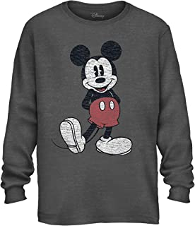 Mickey Mouse Pose Men's Adult Graphic Long Sleeve Tee T-Shirt