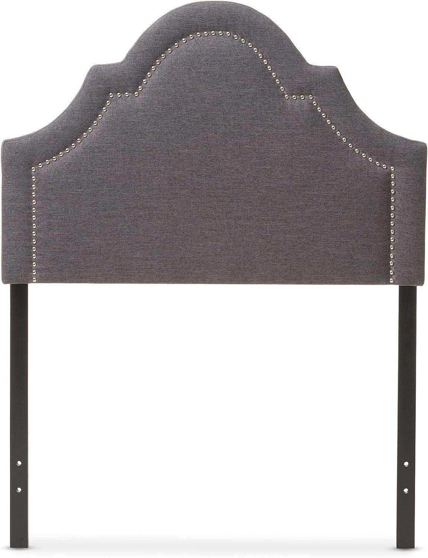 Baxton Studio Remi Modern & Contemporary Dark Grey Fabric Upholstered Headboard, Twin