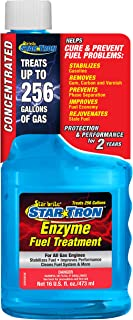 Star Tron Enzyme Fuel Treatment Concentrate - Rejuvenate & Stabilize Old Gasoline, Cure Ethanol Problems, Improve MPG, Red...