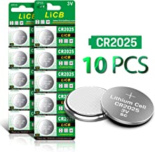 LiCB CR2025 3V Lithium Battery CR 2025 Coin Cell Button (10PCS)