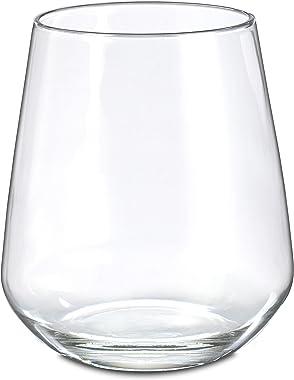 Borgonovo 11096342 Juego de 6 Vasos de Vidrio Soplado, 490 ml
