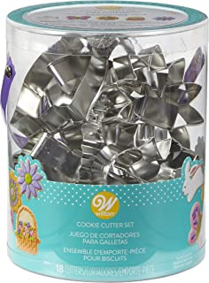 Wilton 2308-5008 18 Piece Metal Easter Cookie Cutter Set, 6.5 in