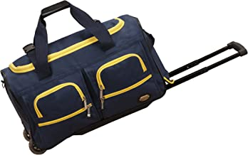 Rockland Luggage 22 Inch Rolling Duffle Bag, Navy, One Size
