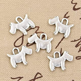 50pcs Charms Scotty Dog 15x12mm Antique Making Vintage Tibetan Silver Zinc Alloy Pendant
