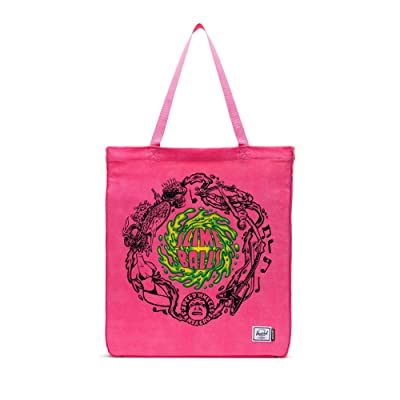 Herschel Supply Co. Long Tote (Slime Balls/Hot Pink) Handbags