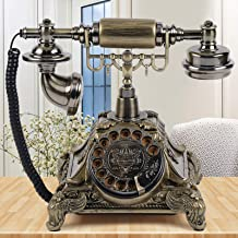 $68 » Sponsored Ad - DYRABREST European Rotary Corded Antique Telephone Old Vintage Rotary Dial Phone Handset Turntable Telephon...