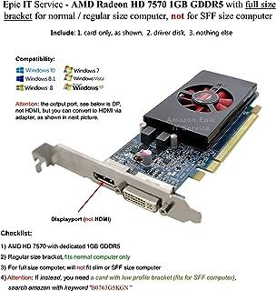 DELL NJ0D3 AMD ATI Radeon HD 7570 1GB DVI Display Port PCI-e Video Card (Renewed)