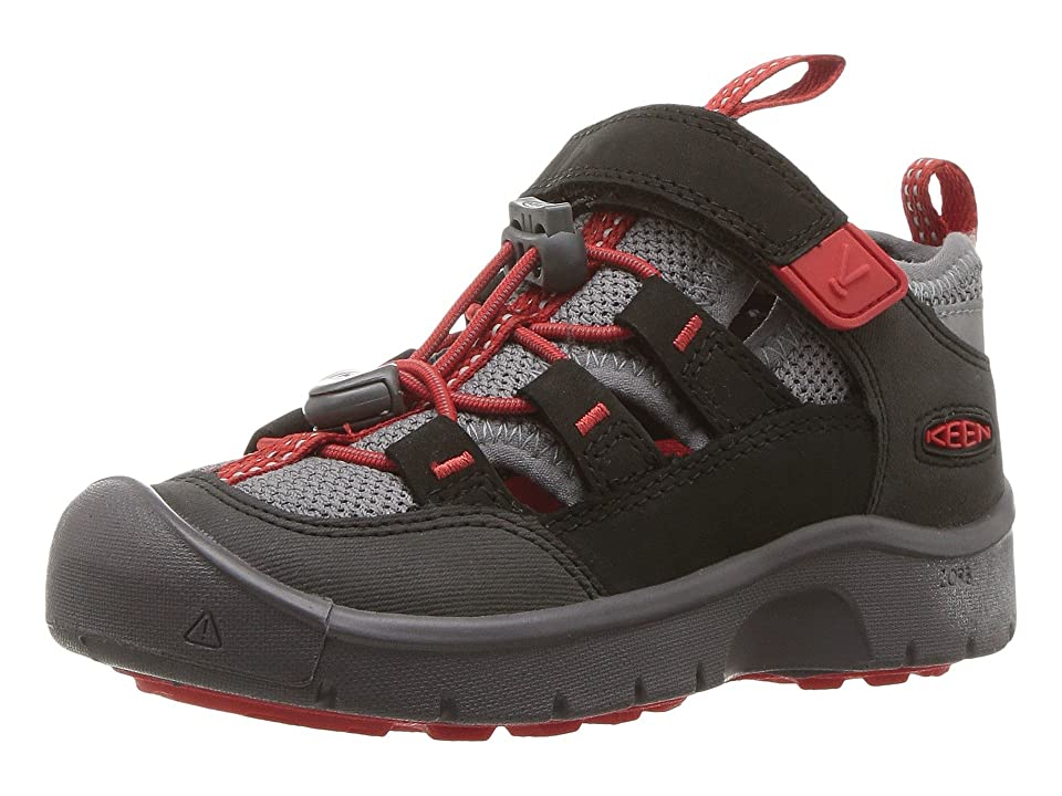 306538179f1f Keen Kids Hikeport Vent (Toddler Little Kid) (Raven Firey Red) Boy s Shoes