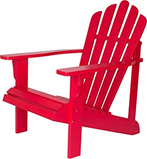Shine Company Inc. 4611TR Westport Adirondack Chair, 28.25W x 35D x 36H, Tomato Red