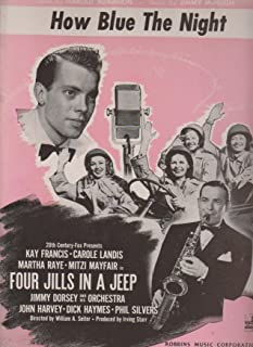 Four Jills in a Jeep ; Vintage WW II Vocal, Piano, Chords Sheet Music