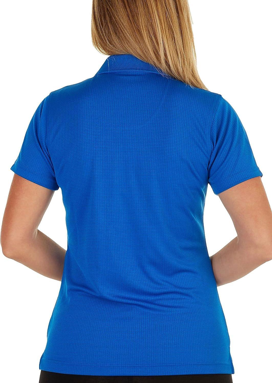 Pebble Beach Womens Pique Solid Zippered Placket Polo Shirt 2X Blue