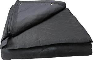 US Cargo Control Large Sound Blanket - 96 Inches Long By 80 Inches Wide - Black Sound Dampening Blanket - Durable Woven Cotton/Polyester Blend Material - Machine Washable - 12 Pounds Per Blanket