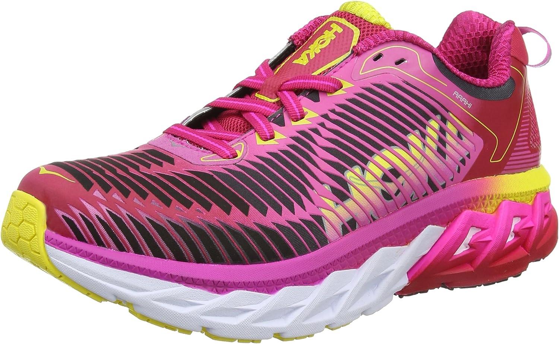 Hoka One Women's Arahi Virtual Pink Neon Fuchsia Ankle-High Running shoes - 6.5M