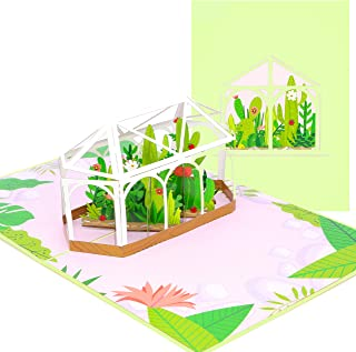 PopLife Greenhouse Garden 3D Pop Up Card - Mother's Day, Valentine's Day Gift, Surprise for a Gardener - Perfect for Plant...