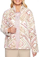 Alfred Dunner Women's Home for The Holidays Geometric Fleece Jacket