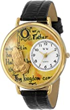 Whimsical Watches Unisex G0710011 Lord's Prayer Black Leather Watch