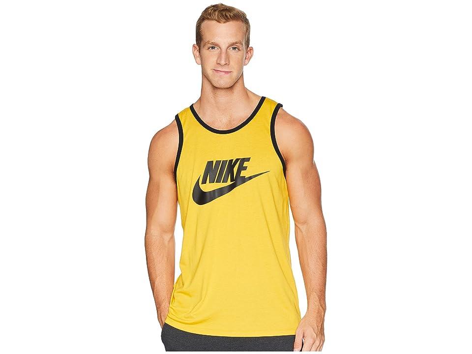 Nike Ace Logo Tank Top (Yellow Ochre/Black/Black) Men