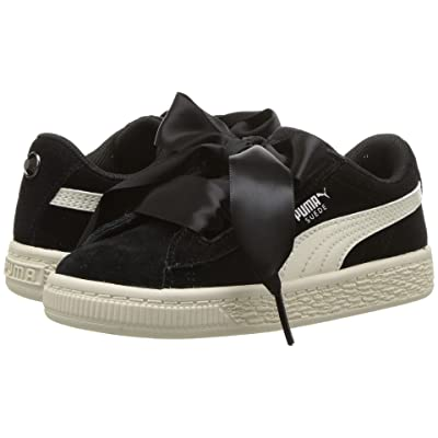 Puma Kids Suede Heart Jewel (Toddler) (Puma Black/Whisper White) Girls Shoes