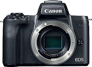 Canon EOS M50 - Cámara digital sin espejo con lente EF-M15-1.772in y lentes EF-M 2.165-7.874in con vídeo 4K y pantalla LCD táctil, color negro