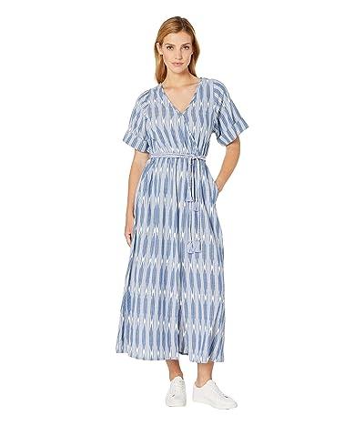 Karen Kane Cuffed Sleeve Dress (Off-White/Blue) Women